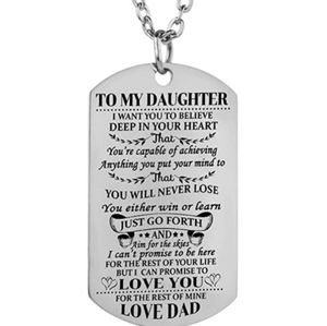 Jewelry - To Daughter from Dad Necklace